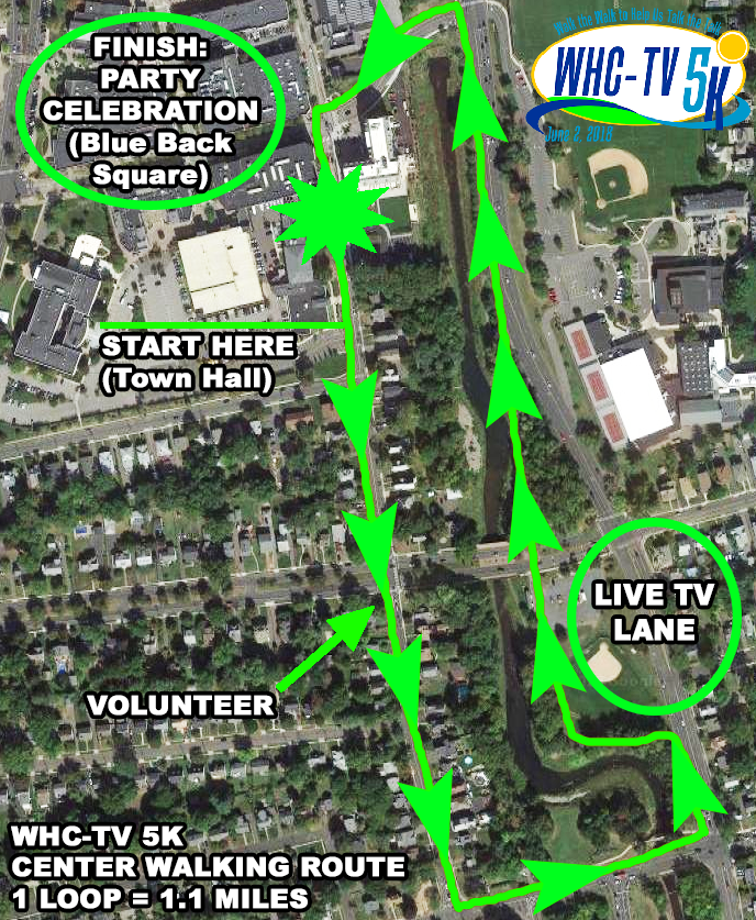 WHCTV 5K 2018 Map Green
