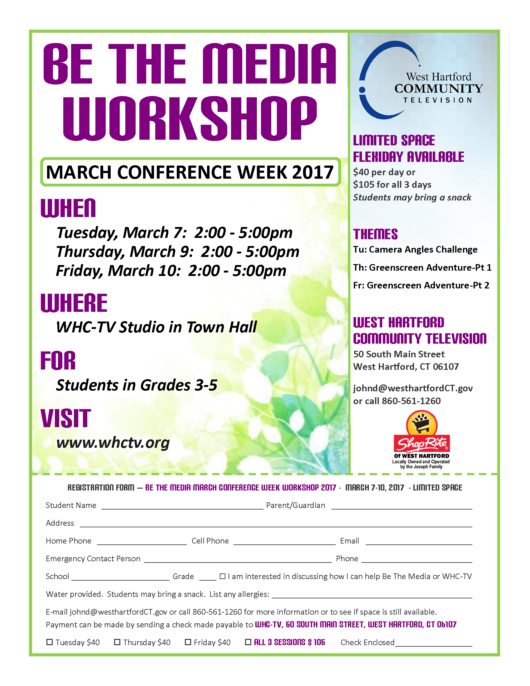 BTM Conference Week Workshop March 7 10 2017