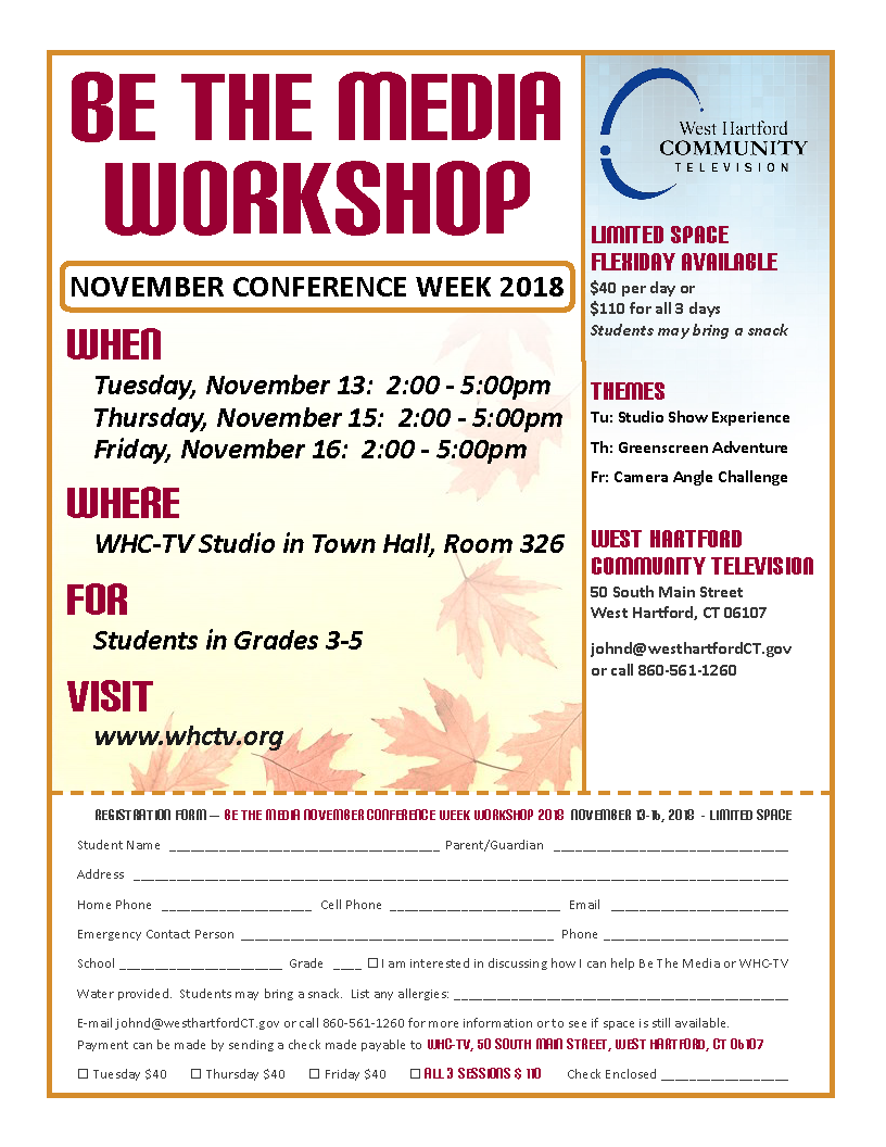BTM Conference Week Workshop November 2018